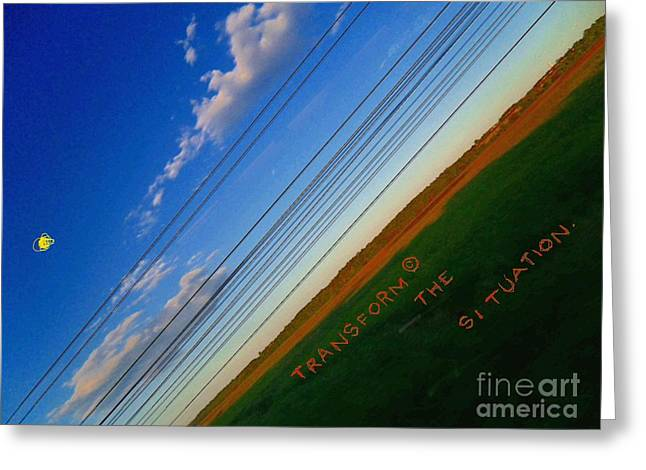 Transendence Greeting Card by Contemporary Luxury Fine Art