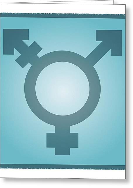 Transgender Symbol, Artwork Greeting Card