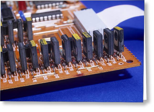 Transistors And Diodes Greeting Card by Andrew Lambert Photography