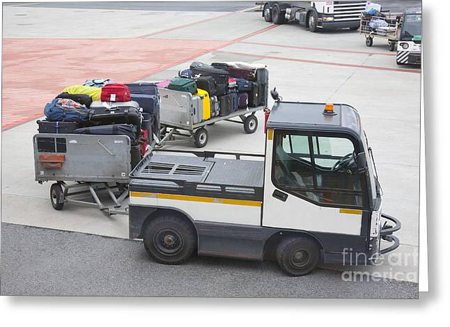 Transported Luggage Greeting Card