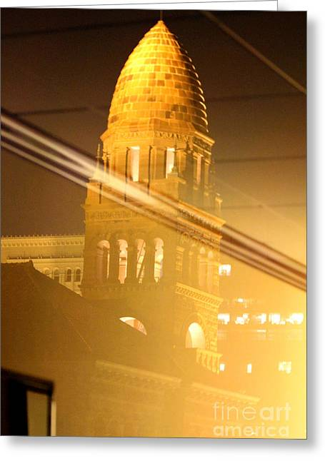 Transposed Tower Greeting Card by Alycia Christine