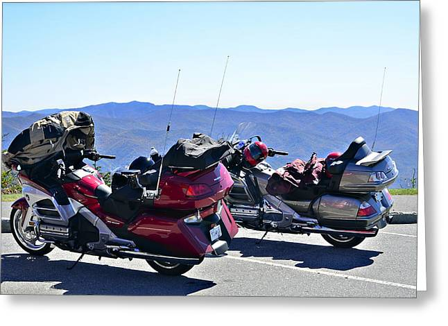 Traveling In Style Greeting Card by Susan Leggett