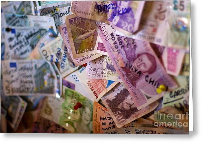 Traveling Money Greeting Card by Hideaki Sakurai