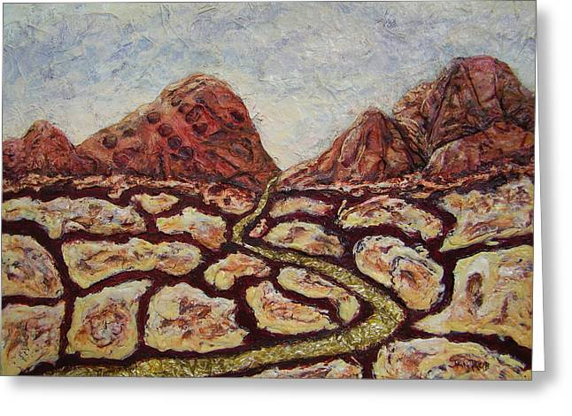 Treasures Of Copper Canyons Greeting Card by Jan Reid