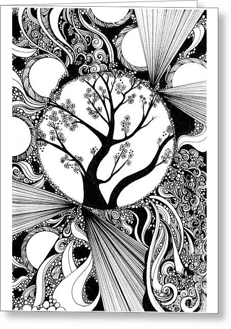 Tree Doodle 58 Greeting Card