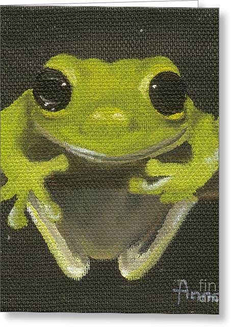 Tree Frog 2 Greeting Card by Annemeet Hasidi- van der Leij