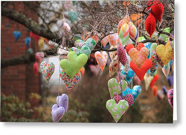 Tree Hearts Greeting Card