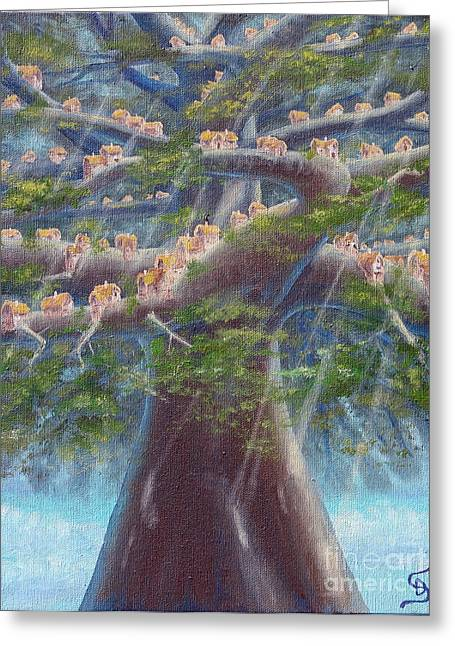 Tree Houses From Arboregal Greeting Card