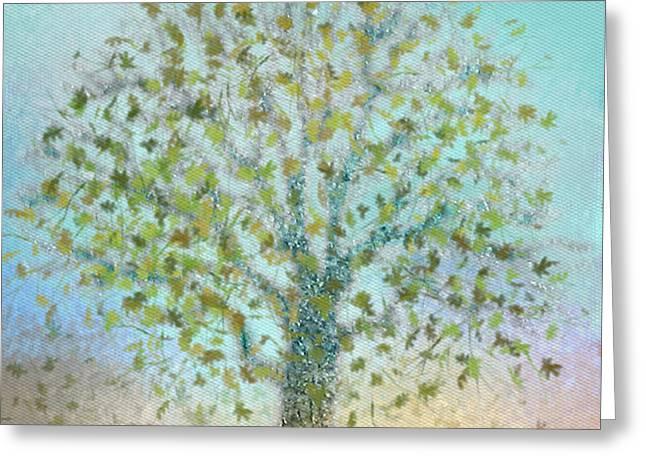 Tree In Autumn Greeting Card