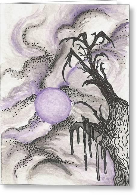 Tree In Moonlight Greeting Card