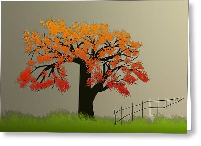 Tree In Seasons - 4 Greeting Card