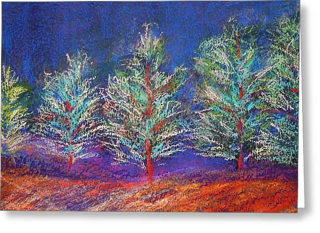 Tree Line Greeting Card by Karin Eisermann
