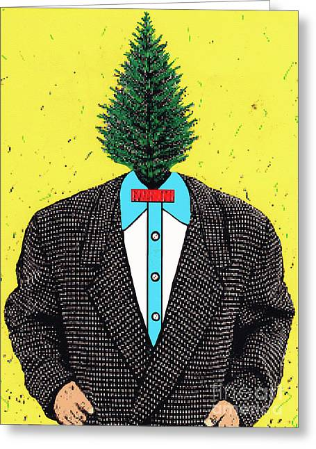 Tree Man Greeting Card by Bill Thomson