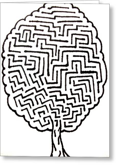 Tree Maze Greeting Card by Andrew Padula