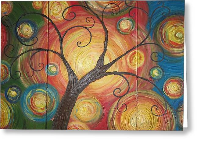 Tree Of Life  Greeting Card by Ema Dolinar Lovsin