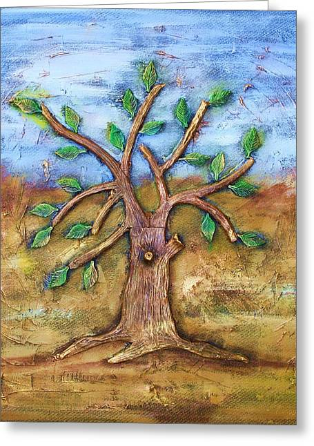 Tree Of Life Greeting Card by Junior Polo