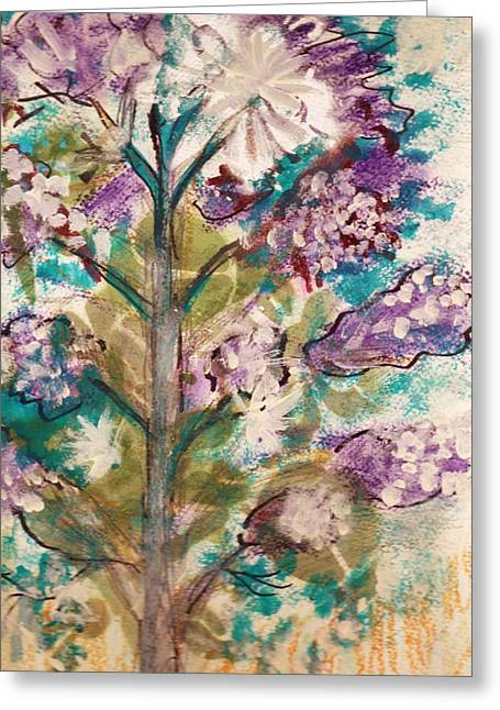 Tree Of My Imagination Greeting Card by Anne-Elizabeth Whiteway