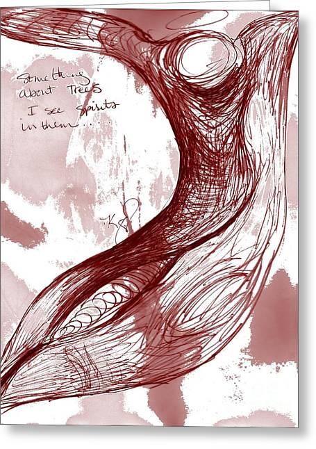 Tree Spirit 1 Greeting Card by Carol Rashawnna Williams