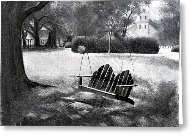 Tree Swing In Grand Coteau Greeting Card by Ron Landry