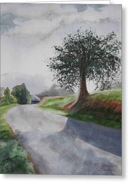 Greeting Card featuring the painting Tree by Teresa Beyer