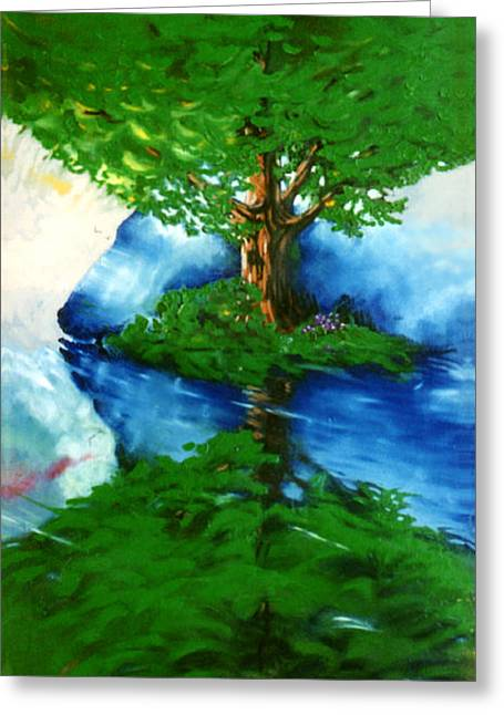 Trees Greeting Card by Douglas Martin