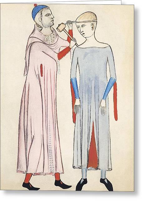 Trepanation, 14th Century Artwork Greeting Card by Sheila Terry
