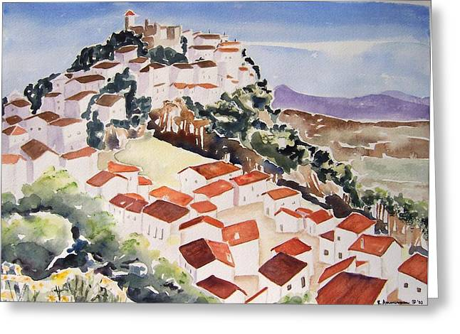 Tresorio De San Martin Greeting Card by Regina Ammerman