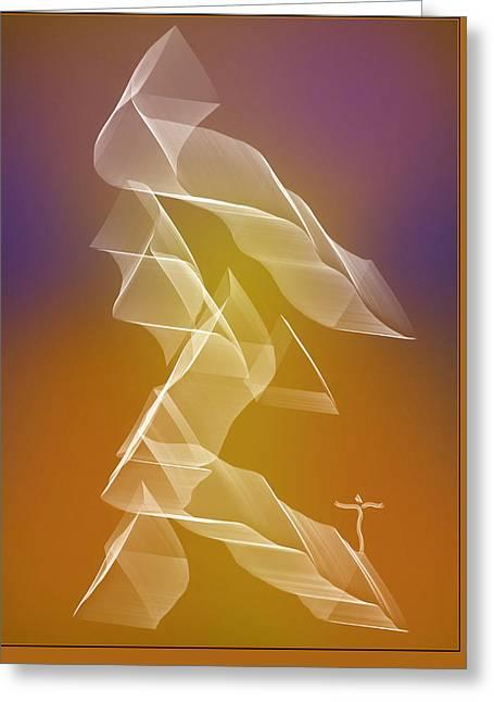 Greeting Card featuring the digital art . by James Lanigan Thompson MFA