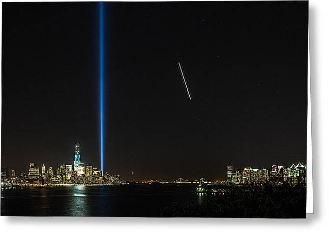 Tribute In Light Greeting Card by John Dryzga
