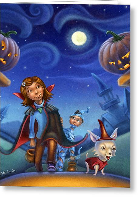 Trick Of Treating Greeting Card