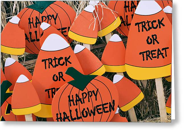 Trick Or Treat Happy Halloween Greeting Card by Julie Palencia