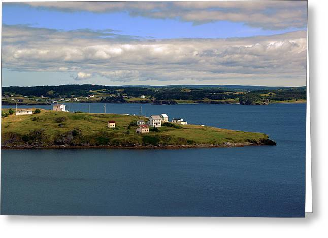 Trinity Bay Greeting Card by Leanna Lomanski