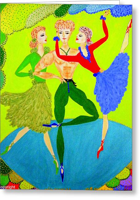 Trio Water-dancers  Greeting Card