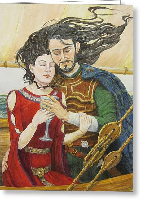Tristan And Isolde Greeting Card by Judy Riggenbach