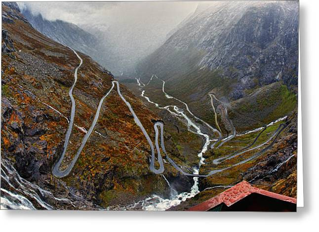 Trollstigen Greeting Card by A A