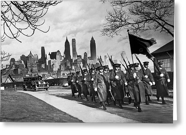 Troops On Governors Island Greeting Card