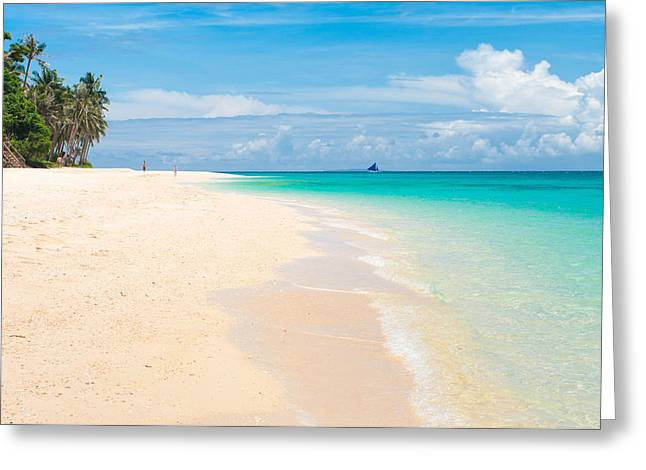 Greeting Card featuring the photograph Tropical Beach by Hans Engbers