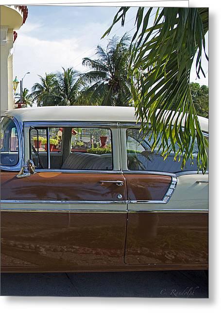 Tropical Chevy Greeting Card by Cheri Randolph