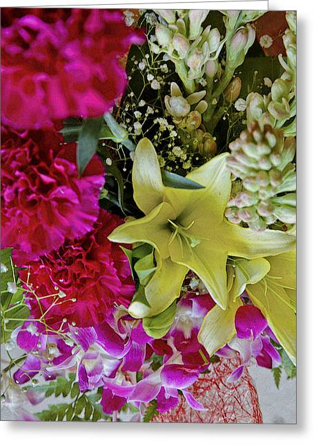 Tropical Fowers Arrangement Greeting Card