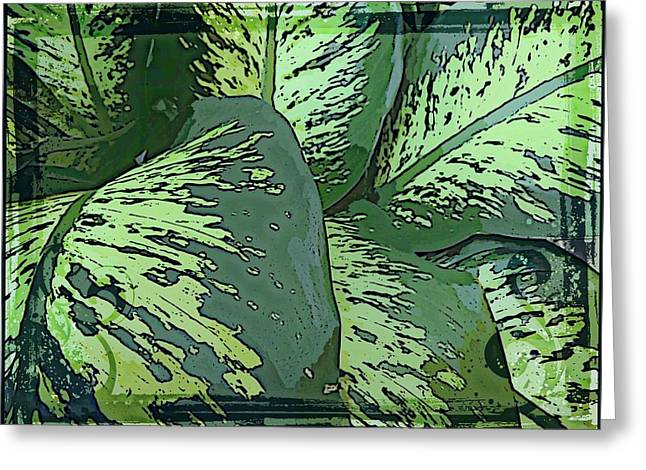 Tropical Green Greeting Card by Mindy Newman