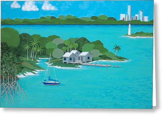 Tropical Idyll Greeting Card