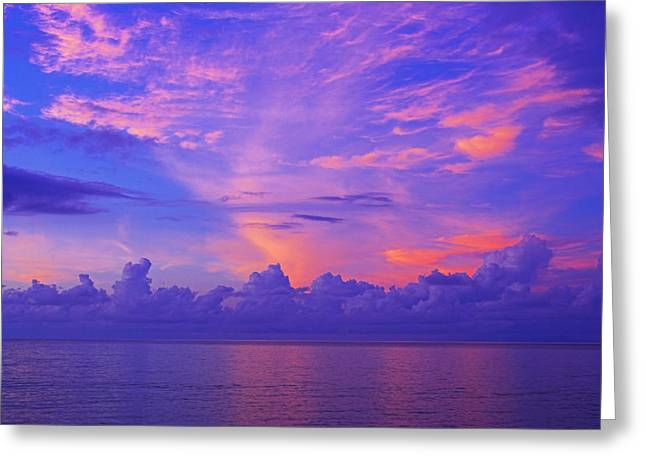 Greeting Card featuring the photograph Tropical Sunset 3- St Lucia by Chester Williams