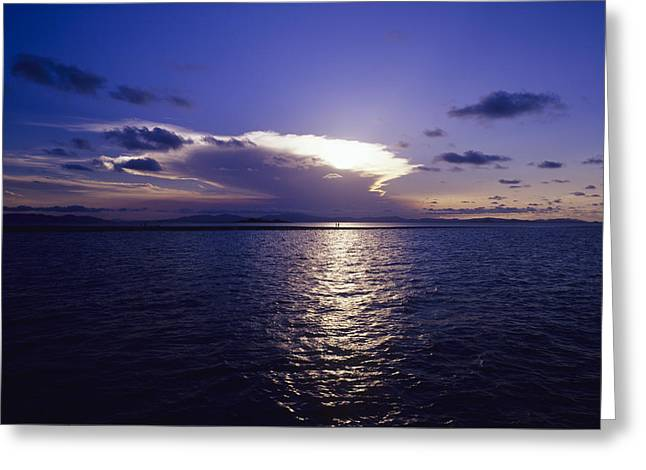 Tropical Sunset Greeting Card by Carlos Dominguez