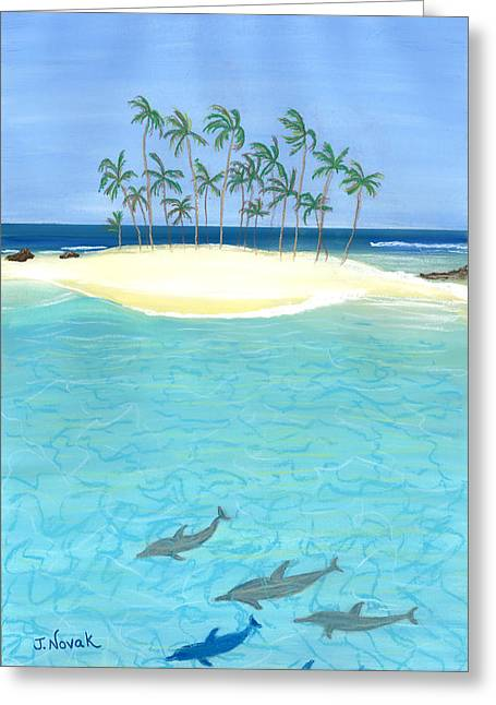 Tropical Tranquility  Greeting Card by Jackie Novak