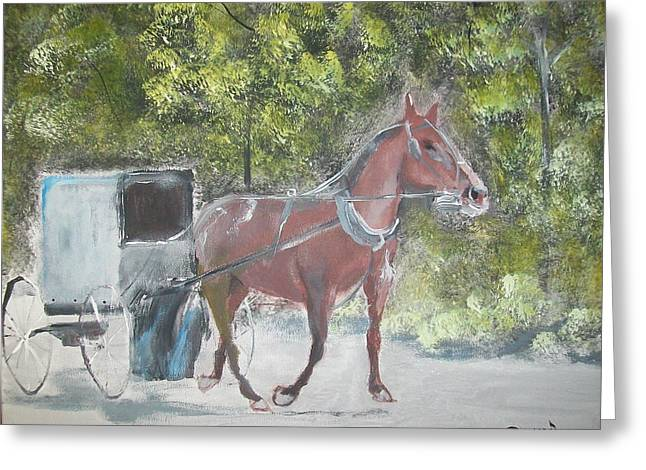 Trotting Along Greeting Card