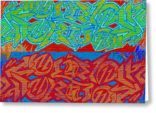 Trouble Tapestry 2 Greeting Card by Randall Weidner