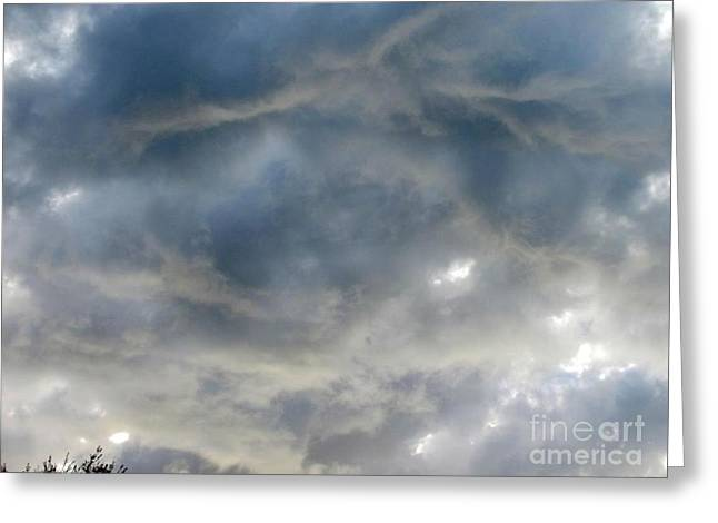 Troubled Sky Greeting Card by Greg Geraci