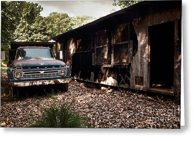 Truck And Barn Greeting Card