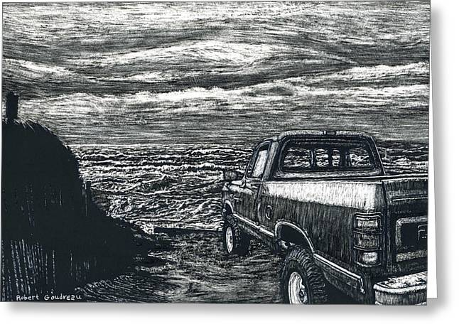 Truck At Nantucket Greeting Card by Robert Goudreau