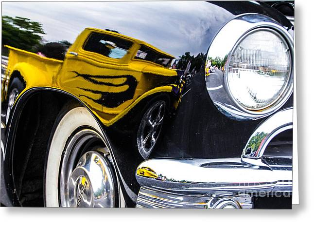 Truck Reflection Greeting Card by Ursula Lawrence